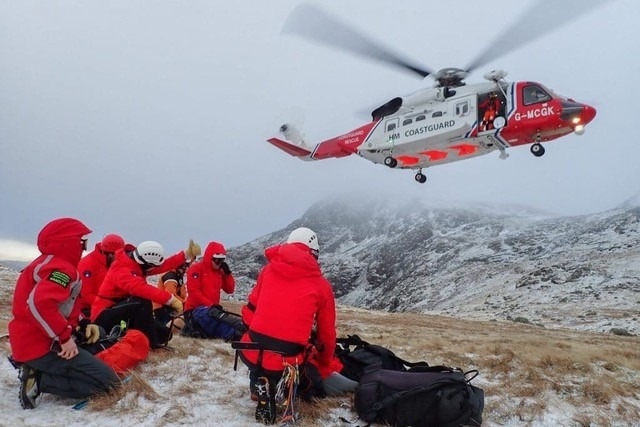 Image result for mountain rescue helicopter uk